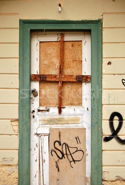 boarded up door Stock photo © sirylok