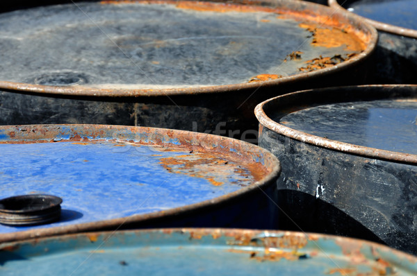 rusty barrels macro Stock photo © sirylok
