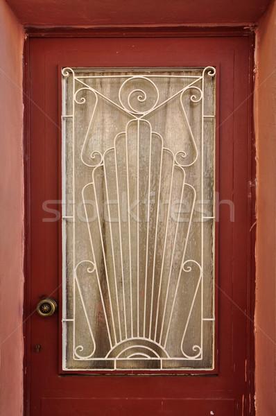 door with abstract sun pattern Stock photo © sirylok