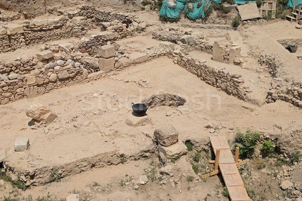 Arkeolojik Atina Yunanistan ören Stok fotoğraf © sirylok