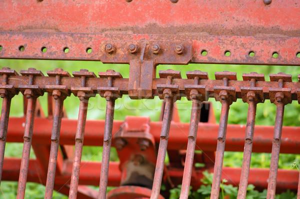 rusty tillage plow Stock photo © sirylok