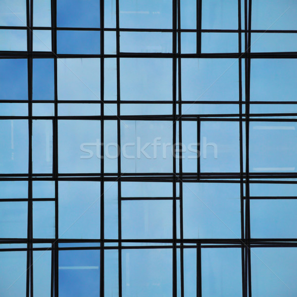 abstract facade lines and glass reflection Stock photo © sirylok