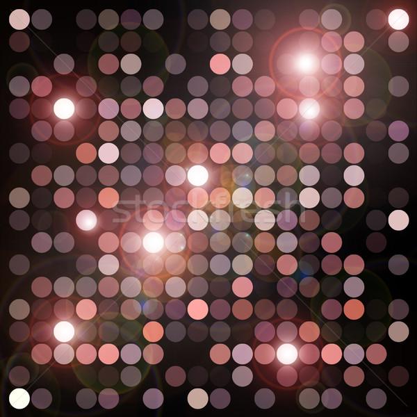 Villanó fények körök geometrikus minta absztrakt digitális illusztráció Stock fotó © sirylok