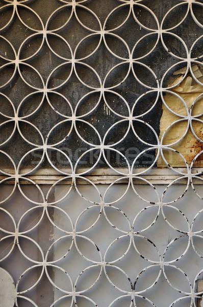 さびた ドア サークル モチーフ 金属 幾何学的な ストックフォト © sirylok