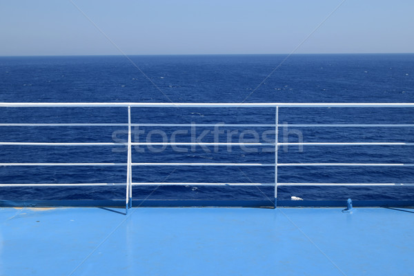 ship railings blue sea Stock photo © sirylok