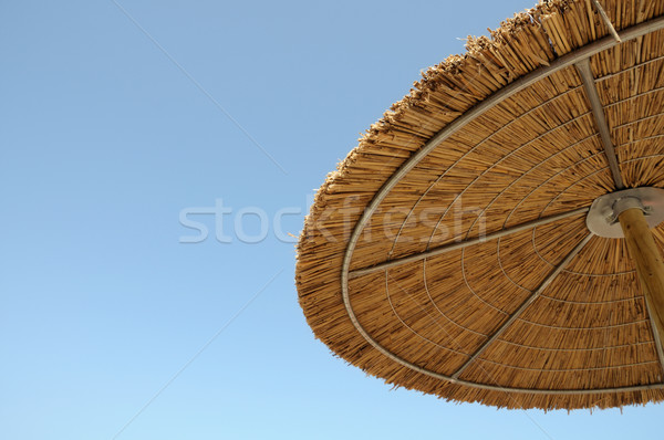 straw parasol Stock photo © sirylok