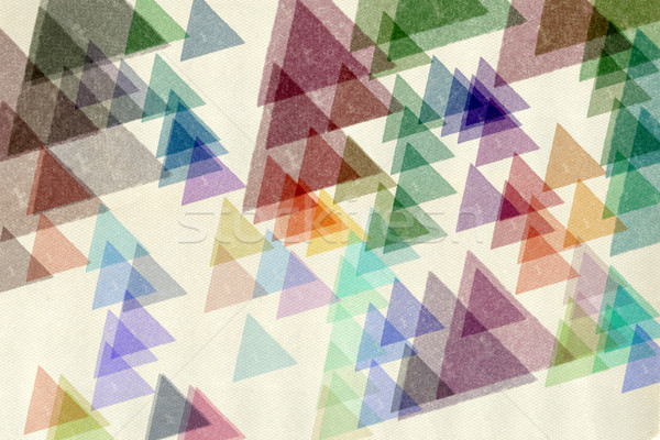 colorful triangles textured paper Stock photo © sirylok