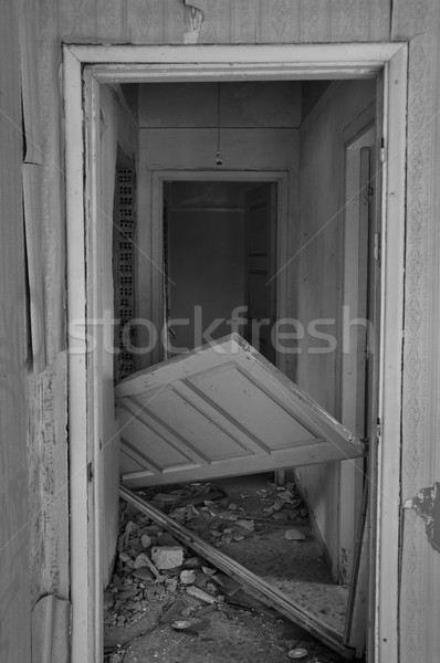 unhinged door abandoned house Stock photo © sirylok