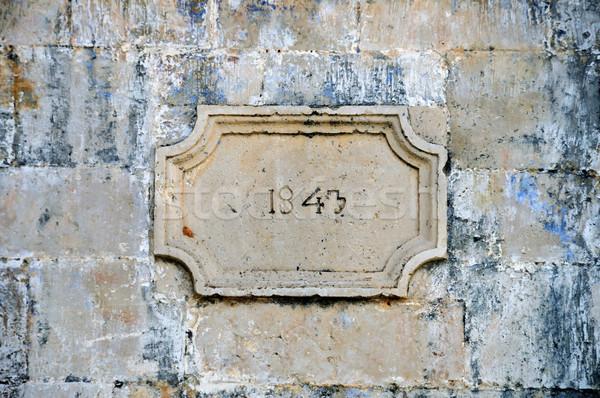 stone inscription Stock photo © sirylok