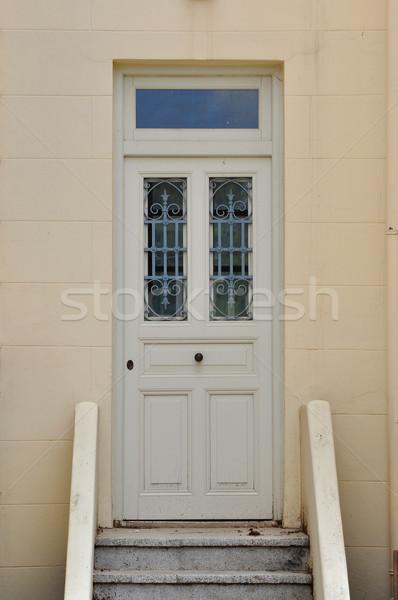 wooden door with iron pattern Stock photo © sirylok