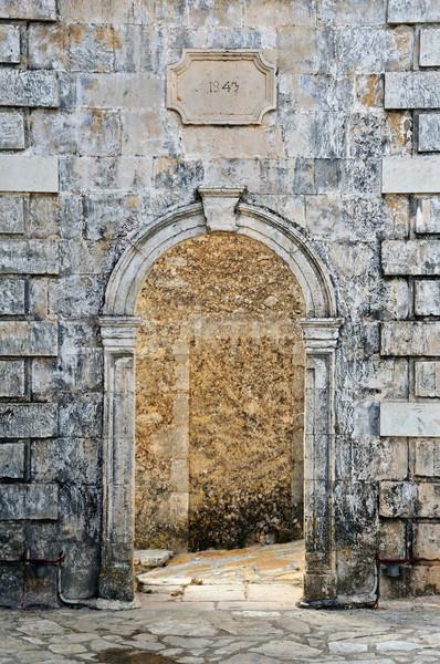 ゲート 風化した ベニスの 詳細 村 ザキントス ストックフォト © sirylok