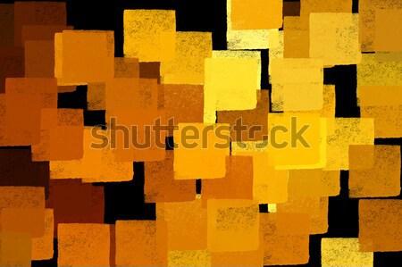 Amarelo praça formas marrom abstrato Foto stock © sirylok