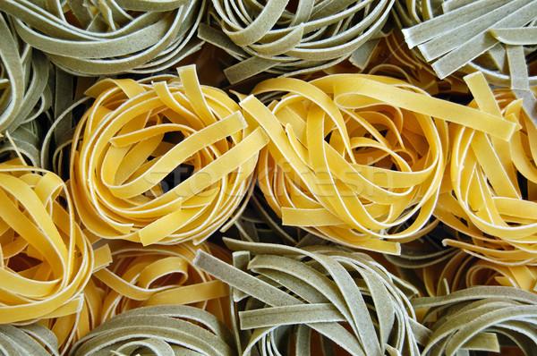 Tagliatelle pasta voedsel smaken vers Italiaans eten Stockfoto © sirylok