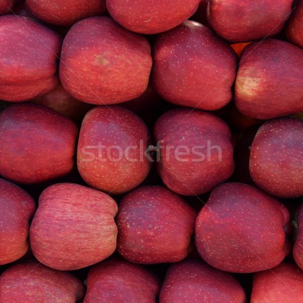 Czerwony jabłka owoców świeże owoce tekstury Zdjęcia stock © sirylok