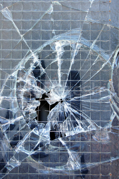 Stock photo: broken window texture