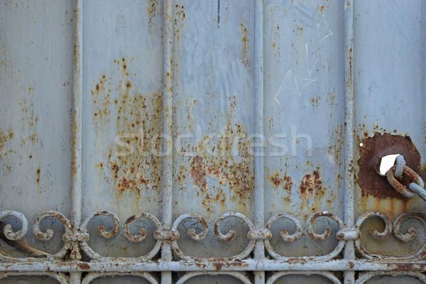 железной ворот ржавые текстуры металлической текстуры выветрившийся Сток-фото © sirylok