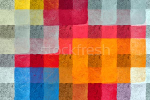 Pintar padrão abstrato digitalmente Foto stock © sirylok