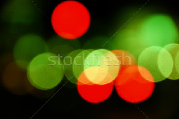 şehir ışıkları soyut circles şehir trafik ışıkları gece Stok fotoğraf © sirylok