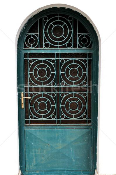 Metal kapı ortak merkezli circles kilise Stok fotoğraf © sirylok