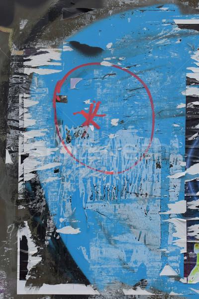 üveg felület szakadt plakátok koszos foltos Stock fotó © sirylok