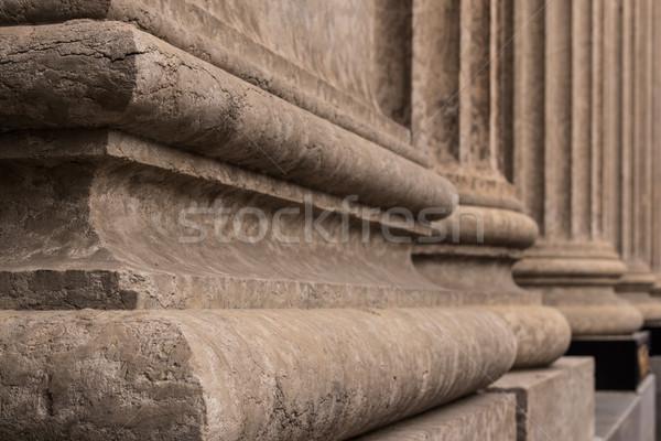 колонн подробность архитектурный детали стиль Сток-фото © skylight