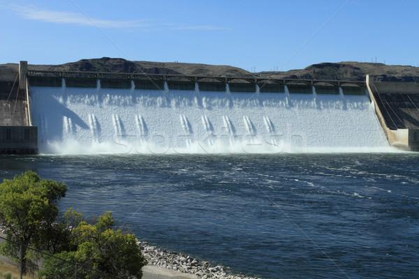 Вашингтон США водопада энергии власти туман Сток-фото © skylight