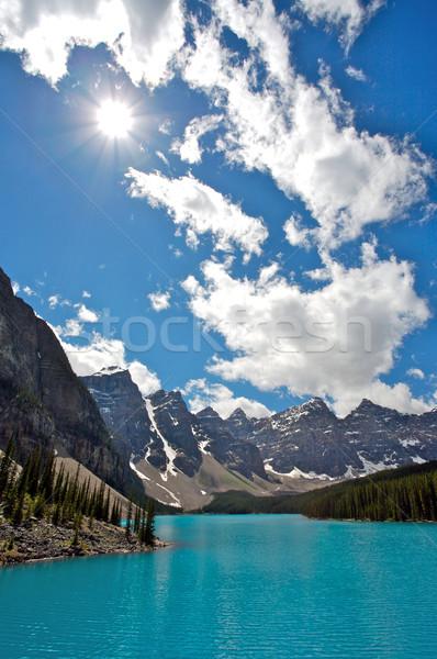 Moraine lac soleil parc montagnes Canada Photo stock © skylight