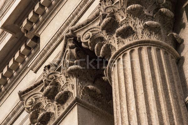 Corinthian Columns Top Detail Stock photo © skylight