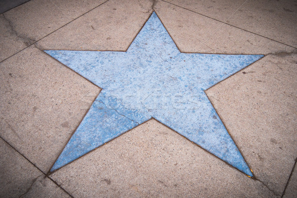 Trottoir star Blauw vorm beton Stockfoto © skylight
