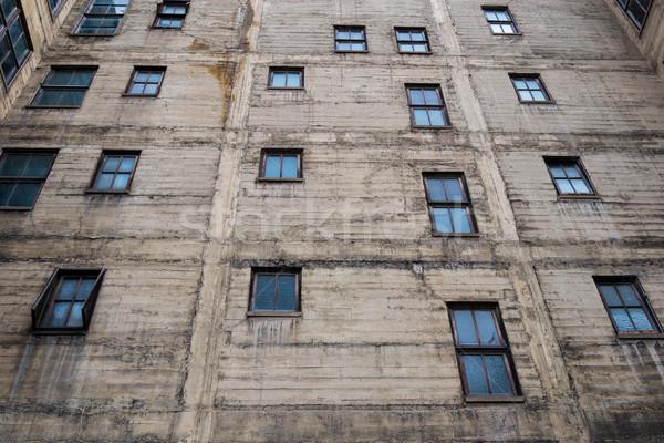 здании стены Windows горизонтальный конкретные Сток-фото © skylight