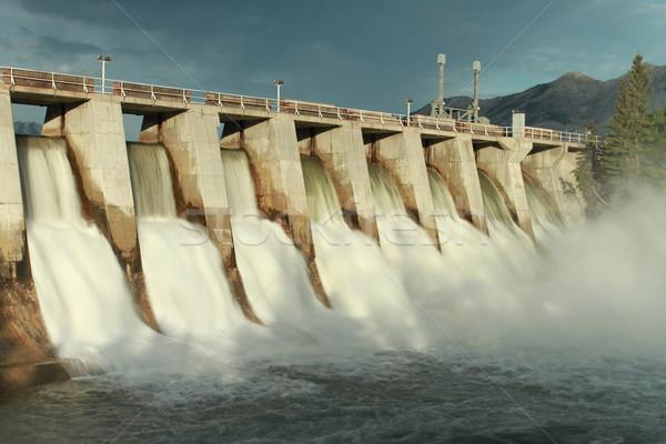 Hydro Dam Spillway Stock photo © skylight
