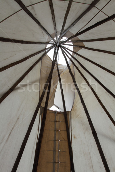 Inside a TeePee Stock photo © skylight