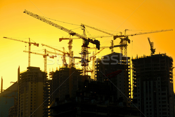 Stock photo: High rise apartment building construction