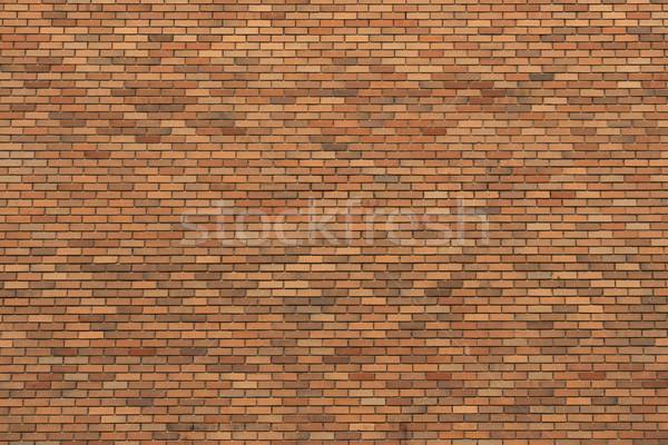 Turuncu tuğla duvar doku büyük duvar renk Stok fotoğraf © skylight