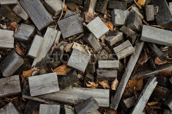 Old scrap lumber Stock photo © skylight