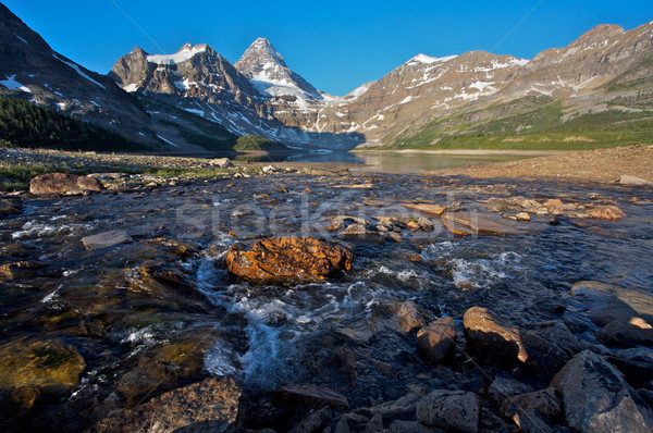 Mount Assiniboine in the Rocky Mountains of Canada Stock photo © skylight