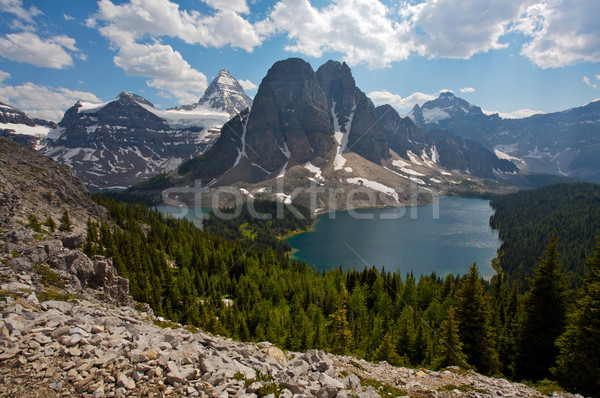 Mount Assinboine and Cerulean Lake Stock photo © skylight