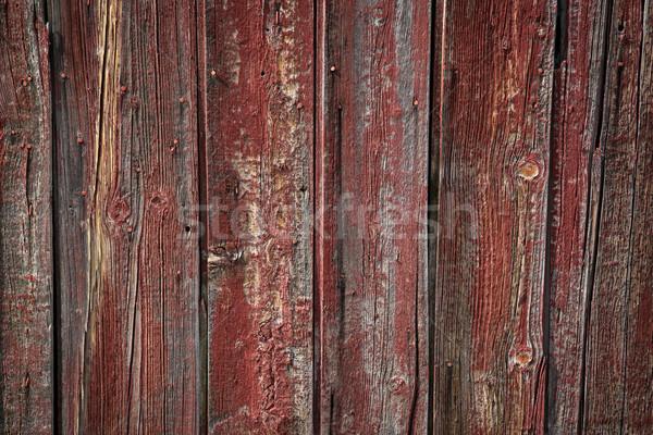 старые красный краской сарай стены Сток-фото © skylight