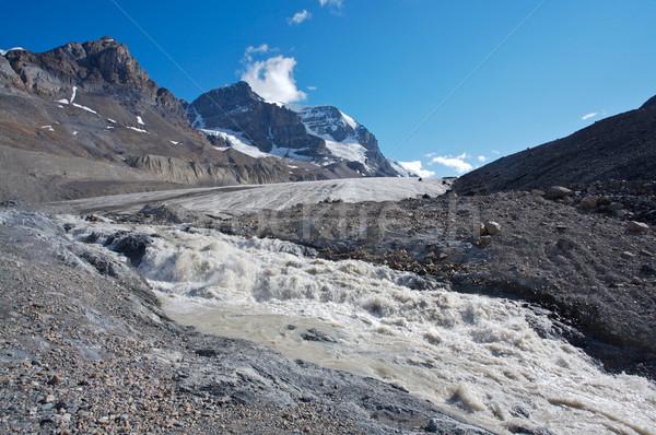 氷河 水 雪 山 環境 カナダ ストックフォト © skylight