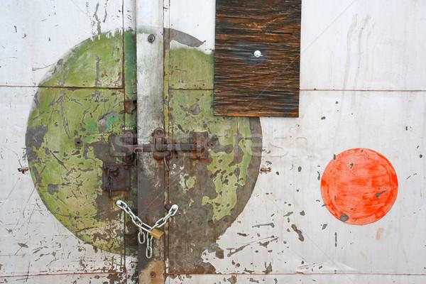окрашенный Круги заблокированный двери старые Сток-фото © skylight