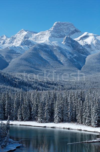 свет снега утес Сток-фото © skylight