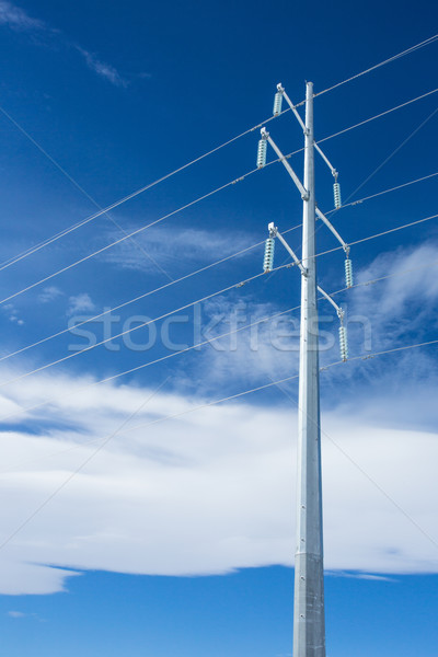 электроэнергии вертикальный стали Blue Sky облака небе Сток-фото © skylight