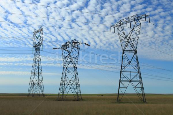 3  電気 電源 劇的な 雲 空 ストックフォト © skylight