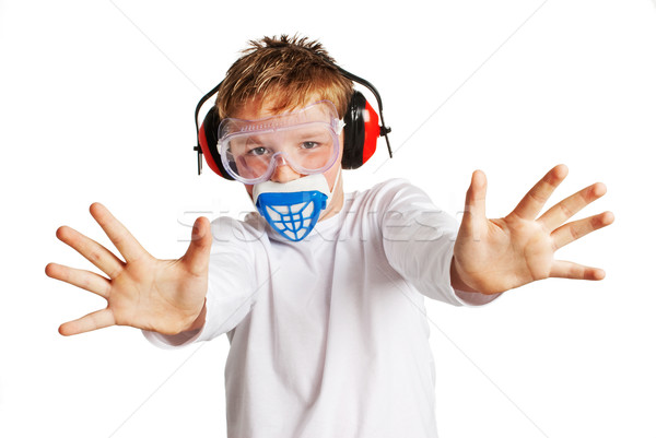 Boy with work mask protection Stock photo © SLP_London