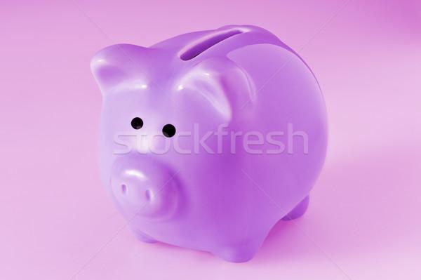 Pembe seramik kumbara finanse oyuncak domuz Stok fotoğraf © SLP_London