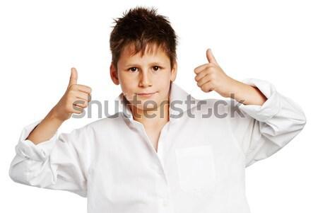 Erkek stüdyo beyaz mutlu saç Stok fotoğraf © SLP_London