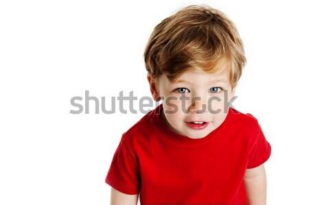Sevimli erkek kırmızı tshirt Stok fotoğraf © SLP_London