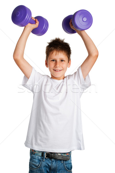 Boy lifting weights Stock photo © SLP_London