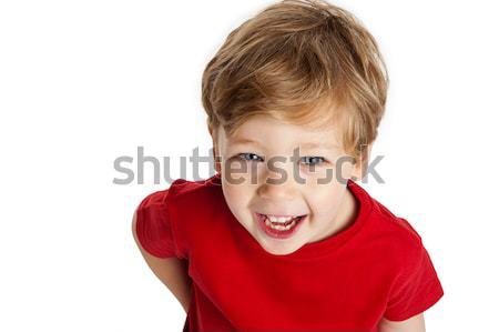 Sevimli erkek gülen gülme Stok fotoğraf © SLP_London
