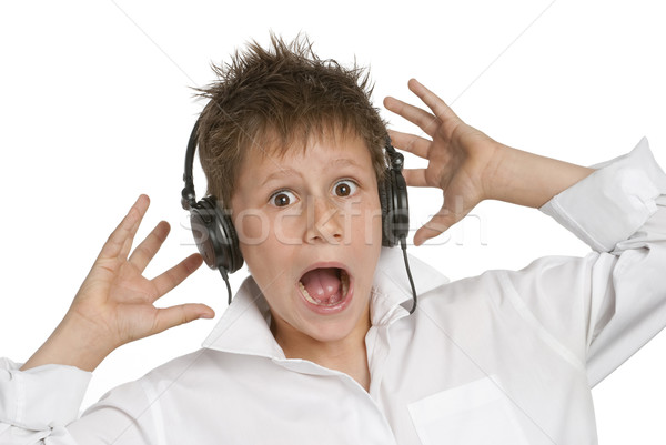 Boy with Headphones Stock photo © SLP_London